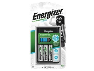 1 Hour Charger plus 4 x AA 2300 mAh Batteries